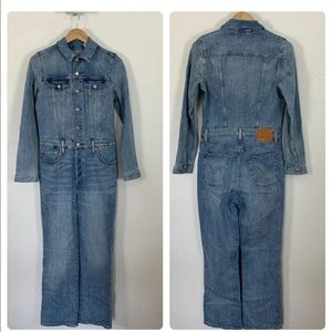 NWT Levi's KickFlare Jumpsuit Jean Crop Coverall